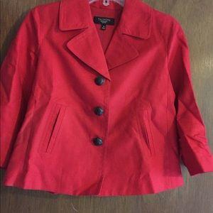 Talbots Red Linen Jacket.